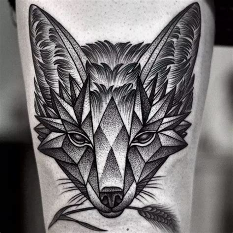 geometric dotwork tattoo designs 1 2