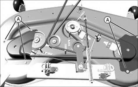 replaced  mower deck belt   lt    loose