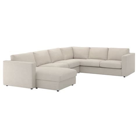 5 Seat Sectional Sofa Vimle Corner Sofa 5 Seat With Chaise Longue Gunnared Beige Ikea