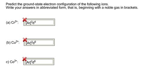 tutorial questions on electron configuration solved predict the ground state electron configuration of