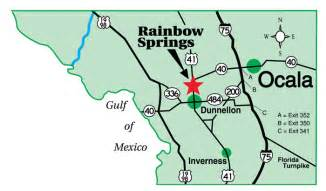 map of dunnellon florida map and directions to the villages of rainbow springs in