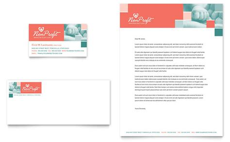 Non Profit Association For Children Business Card Letterhead Template Design Nonprofit Style Guide Template