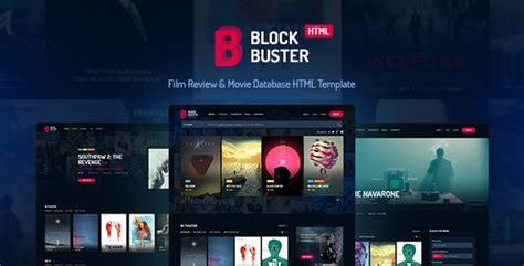 Blockbuster Film Review Movie Database Html Template Nulled Download Filmmaker Website Template