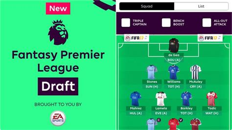 Epl Draft | fantasy premier league draft players finalized for world