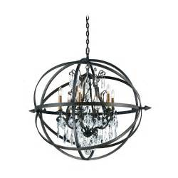 Pendant And Chandelier Lighting Modern Orb Pendant Chandelier Light In Bronze Finish F2997 Destination Lighting