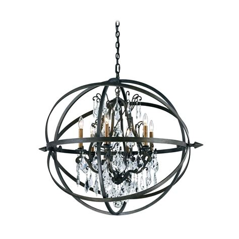 Modern Crystal Orb Pendant Chandelier Light In Bronze Chandelier And Pendant Lighting