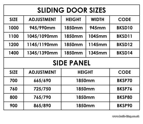 Sliding Glass Door Sizes Sliding Door Bath King