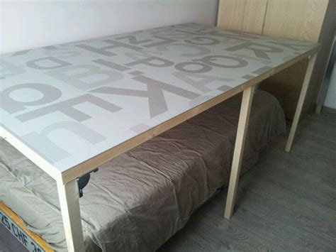 Cutting table over a bed / folding table   sewing room