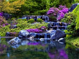 Beautiful Waterfalls With Flowers by Summer Stream Waterfalls Amp Nature Background Wallpapers