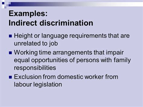discrimination and equal opportunity ppt