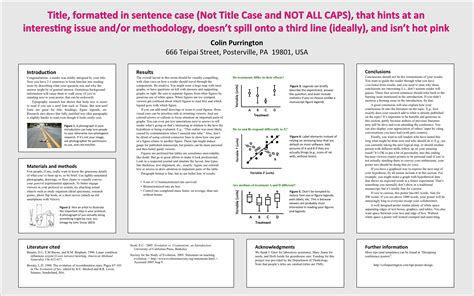 Designing Conference Posters Colin Purrington Academic Poster Template