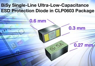 ultra low inductance capacitors ultra low capacitance esd protection diode saves board space