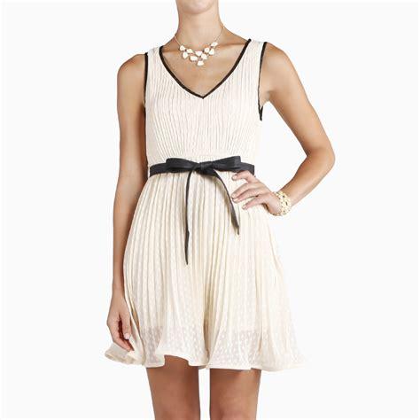 leather swing dress leather trim swing dress by double zero