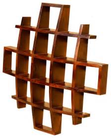wooden wall bookshelves contemporary wood display wall hanging shelves decor curio