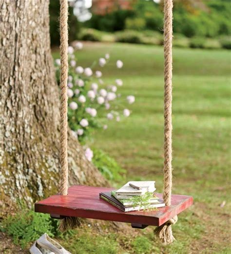 build tree swing vintage wooden rope swing tree swings plow hearth