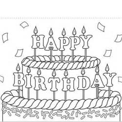 happy birthday coloring card print out coloring birthday cards print this birthday