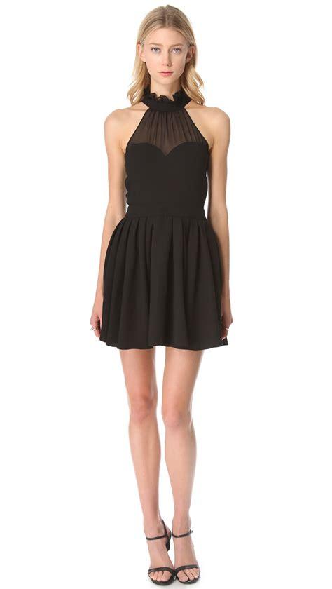 Top Dress blaque label halter top dress in black lyst