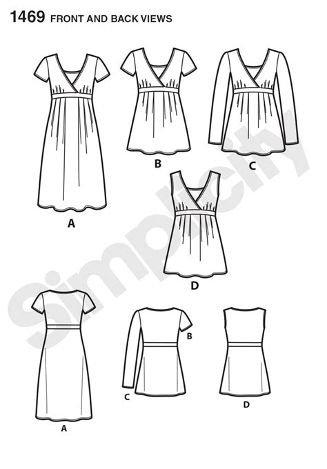 pattern review hot patterns simplicity 1469 maternity and nursing knit top or dress
