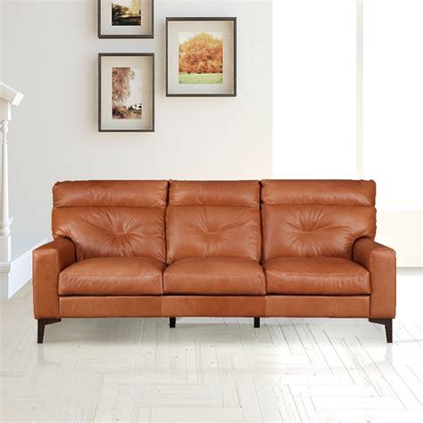 buy harris leather  seater sofa  tan colour