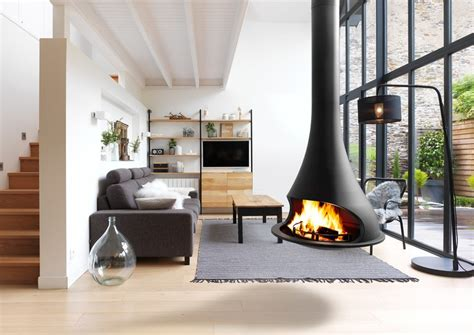 camini circolari open hanging fireplace tatiana 997 by jc bordelet