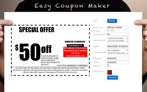 Free Coupon Maker Template Free Coupon Template Brochure Templates Coupons Template Free Free Coupon Maker Template