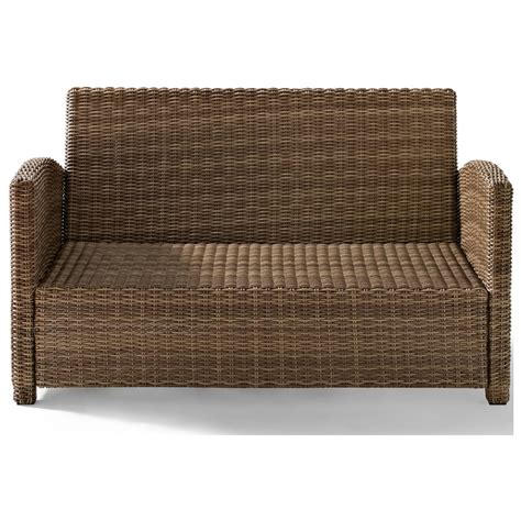 cushions for wicker loveseat crosley biltmore outdoor wicker loveseat with cushions