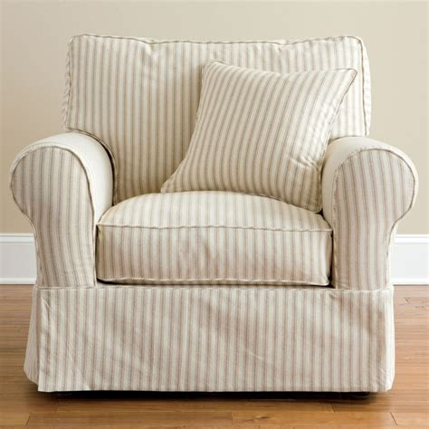 slipcovered living room chairs jcpenney furniture brand friday stripe slipcovered chair shopstyle home