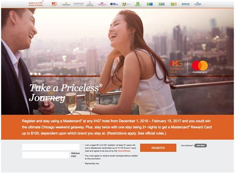 Ihg Sweepstakes - mastercard holders ihg priceless experience sweepstakes awardwallet blog