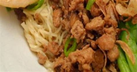 resep mie ayam jamur resep  membuat masakan enak