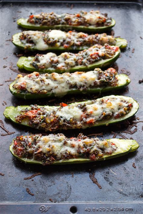 vegetables zucchini recipes vegetable and quinoa stuffed zucchini taste and nourish