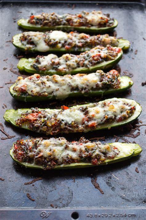 vegetables zucchini vegetable and quinoa stuffed zucchini taste and nourish