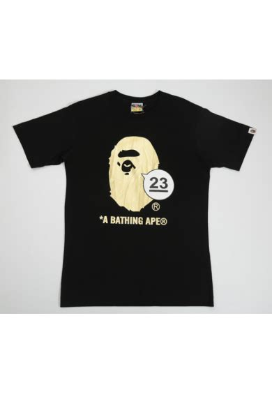 Bape Kaos Tshirt A Bathing Ape 23 a bathing ape 23 logo t shirt black