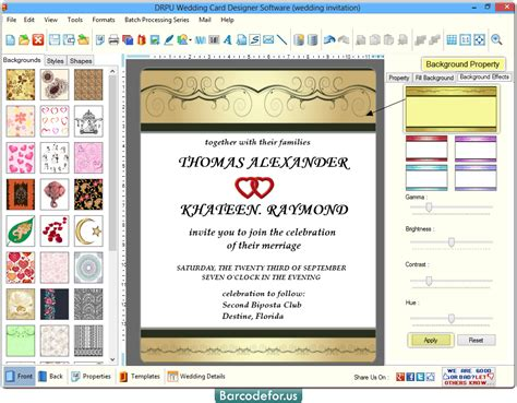 Wedding Card Generator by Wedding Card Maker Software Designs Invitation Cards