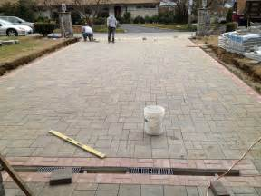 How To Put In A Paver Patio Crescent Dc Installing Paver Driveway