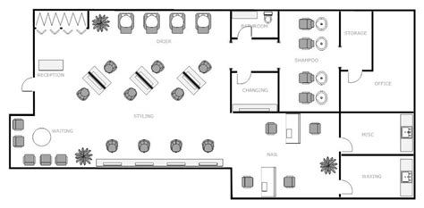 salon design layout nail salon floor plans find