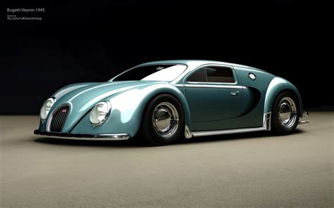 Bugatti Veyron Gets Beetle Edition Rendering Autoevolution