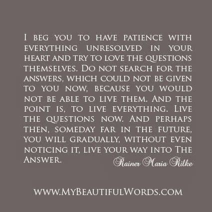 rainer maria rilke quote have patience with everything unresolved in your heart and
