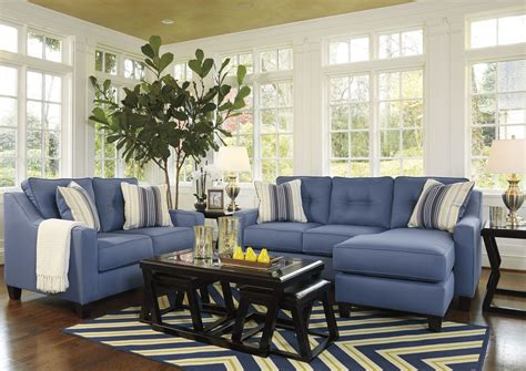 blue living room set aldie nuvella blue living room set 6870318 ashley
