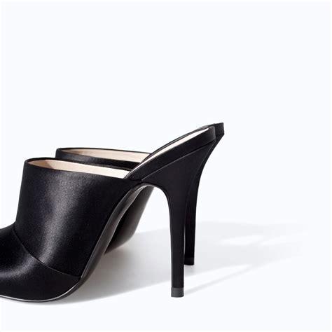 zara high heel slingback shoe in black lyst