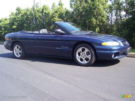 2000 Chrysler Sebring Jxi Convertible by 2000 Patriot Blue Pearl Chrysler Sebring Jxi Convertible