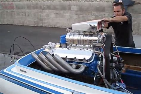speed boat engine sound you have to hear how this insane blown boat engine with 1