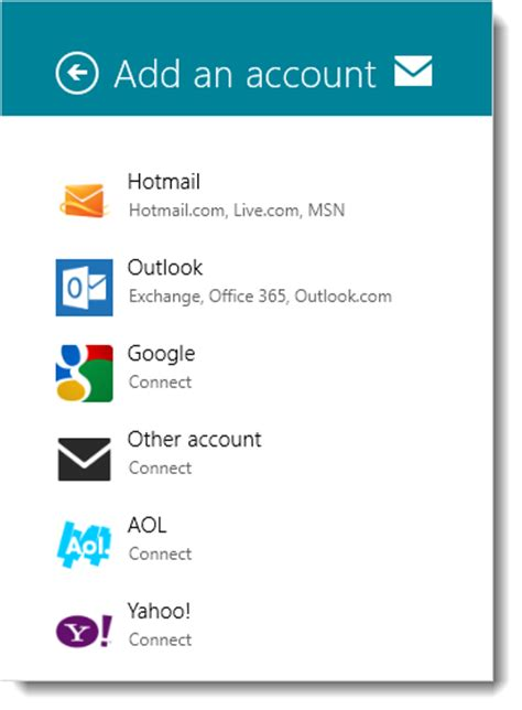 Search By Email Account How To Add More Than One Email Accounts In Windows 8