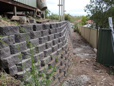 Australian Retaining Walls Diamond Concrete Block Garden Wall Retaining Blocks
