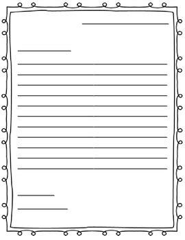letter writing paper friendly letter jenny adkins tpt