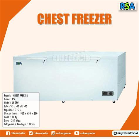 Freezer Rsa 220 Liter jual cf 750 chest freezer rsa harga murah tangerang beli disini