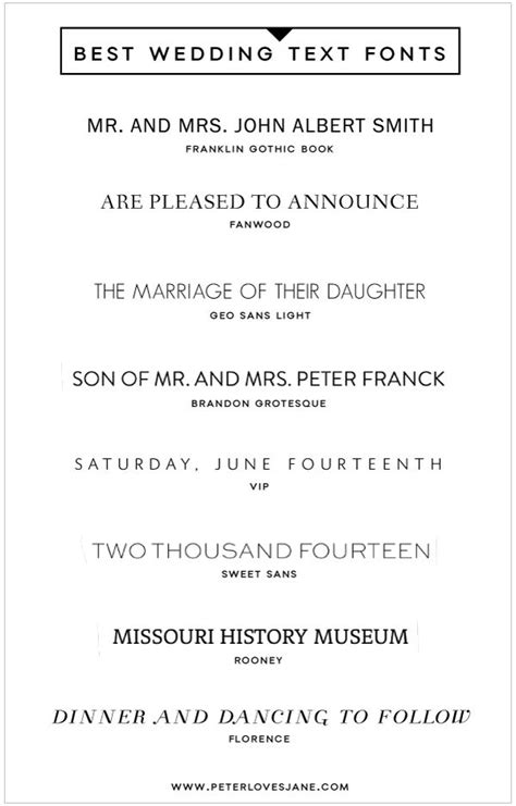 Wedding Font Serif by 8 Best Text Fonts For Wedding Invitation Graphics