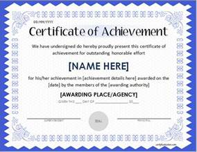 Achievement Certificate Templates by Scholarship Award Certificate Template Word Excel