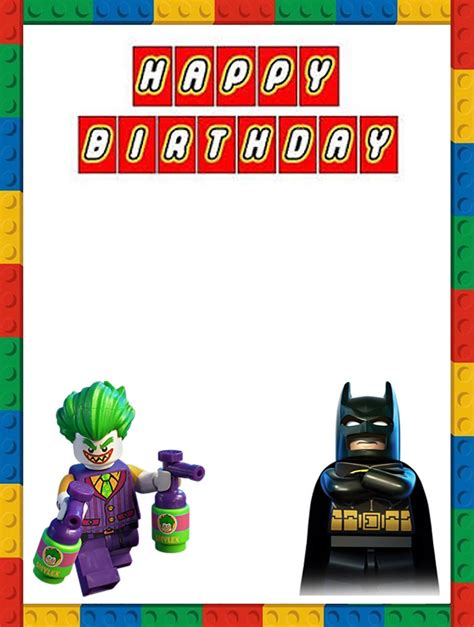 lego birthday card template lego batman birthday invitation template invitations