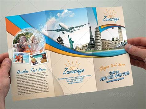 tourist brochure template travel brochure templates 21 in psd vector