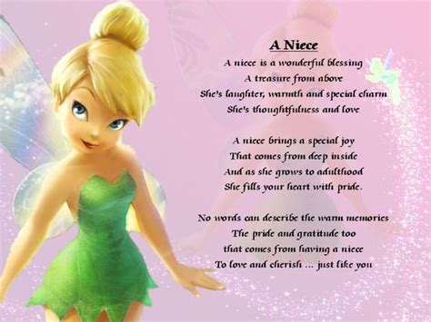 Baby Niece Birthday Quotes Details About Personalised Poem A Niece Various